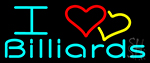 I Love Billiards 2 Neon Sign