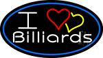 I Love Billiards 3 LED Neon Sign