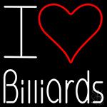 I Love Billiards LED Neon Sign