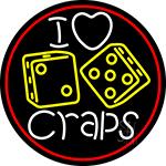 I Love Craps 4 LED Neon Sign
