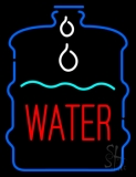 Red Water In Bottle LED Neon Sign