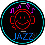 Jazz With Smiley 1 LED Neon Sign
