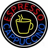 Round Cappuccino Espresso LED Neon Sign