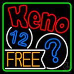 Keno Free 1 LED Neon Sign