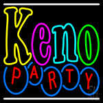 Keno Party 2 LED Neon Sign