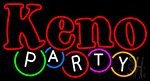 Keno Party LED Neon Sign