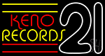 Keno Records 21 2LED Neon Sign