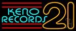 Keno Records 21 3 Neon Sign