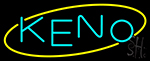 Keno With Oval 1 Neon Sign