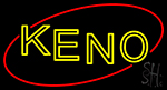 Keno With Oval Neon Sign