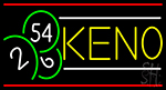 Keno With Ball 2 Neon Sign