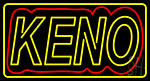 Keon With Border LED Neon Sign