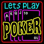 Lucky Poker 1 LED Neon Sign