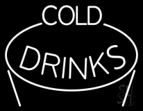White Cold Drinks LED Neon Sign