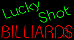 Lucky Shot Billiards Neon Sign