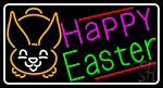 Multicolor Happy Easter 1 Neon Sign