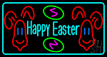 Multicolor Happy Easter 2 Neon Sign