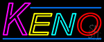 Multi Color Keno Border 3 Neon Sign