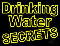 Yellow Drinking Water LED Neon Sign