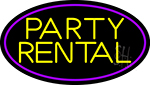 Party Rental 2 Neon Sign