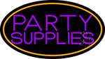 Party Supplies 3 Neon Sign