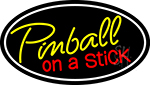 Pinball On A Stick 3 LED Neon Sign