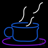 Blue Coffee Glass LED Neon Sign