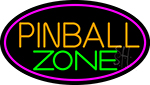 Pinball Zone 5 Neon Sign