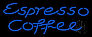 Blue Espresso Coffee LED Neon Sign