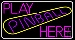 Play Pinball Herw 1 Neon Sign