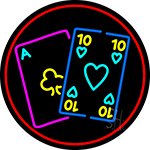 Poker Cards 1 LED Neon Sign