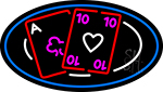 Poker Cards 2 Neon Sign
