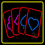 Poker Cards Icon 2 Neon Sign
