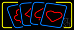 Poker Cards Icon 3 Neon Sign