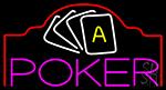 Poker King 5 Neon Sign