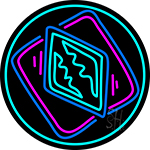 Poker Redand Icon 2 Neon Sign