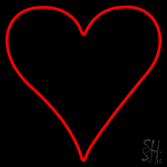 Poker Symbol Neon Sign