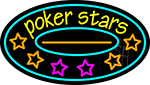 Pokers Stars 2 LED Neon Sign