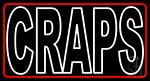 Craps Neon Sign