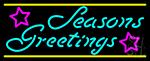 Cursive Seasons Greetings 2 LED Neon Sign