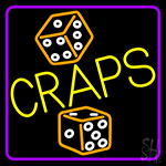 Dice Craps 1 Neon Sign