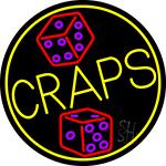 Dice Craps Neon Sign