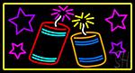 Fire Work 2 Logo LED Neon Sign