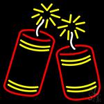 Fire Work Logo LED Neon Sign