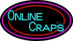Online Craps 3 Neon Sign