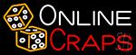 Online Craps Neon Sign
