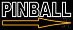 Pinball With Arrow 1 LED Neon Sign