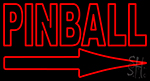 Pinball With Arrow Neon Sign