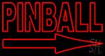 Pinball With Arrow LED Neon Sign