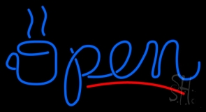 Coffee Open LED Neon Sign